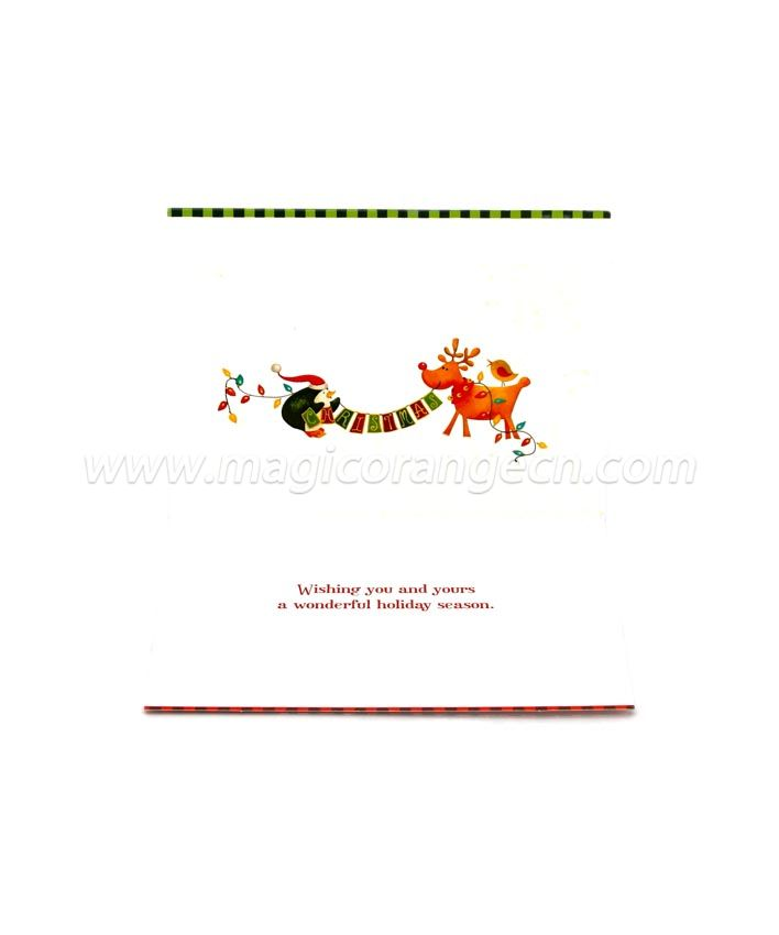 BK1058 Merry Christmas Greeting Cards White Paper