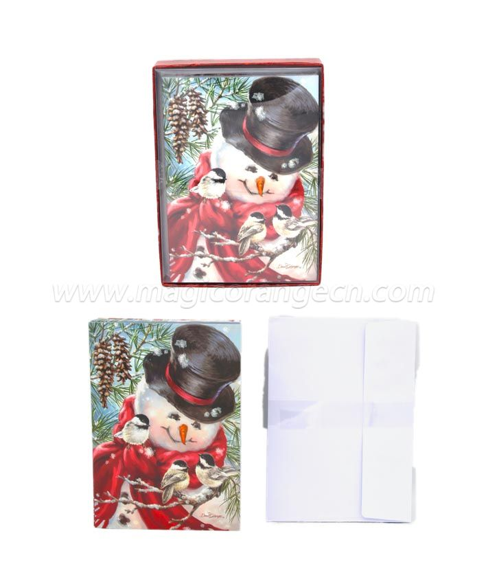 BK1059 Merry Christmas Greeting Cards Paper Large
