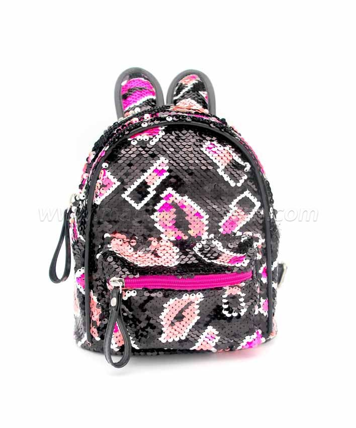BG2037 Mini Sequin Rabbit Ear Backpack Waterproof Shoulder Bag