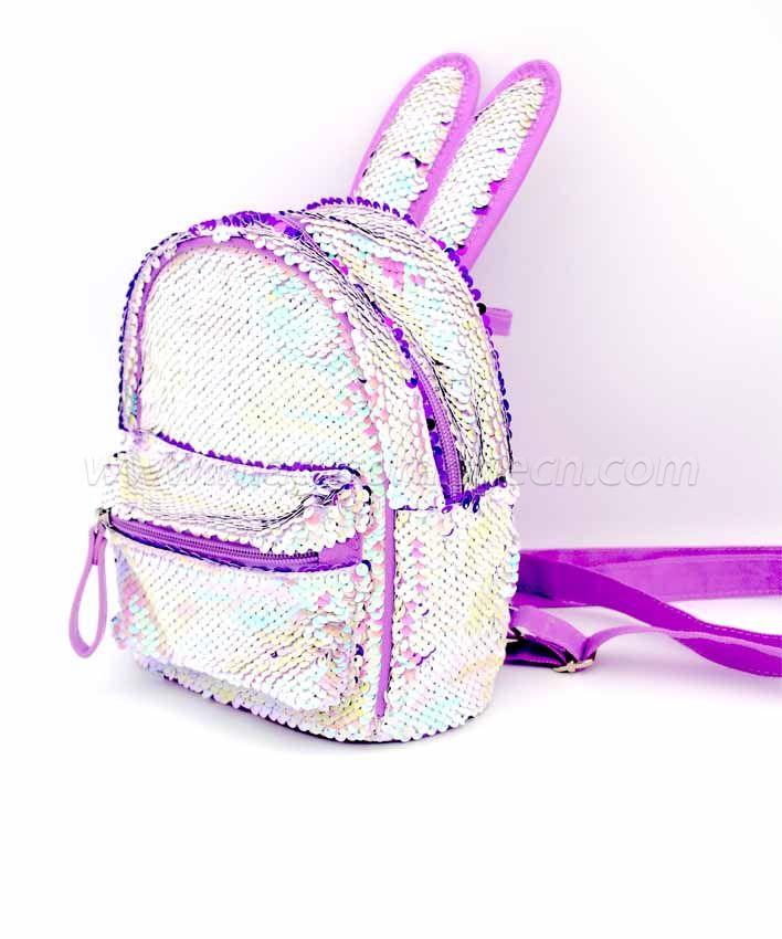 BG2037 Mini Sequin Rabbit Ear Backpack Waterproof Shoulder Bag
