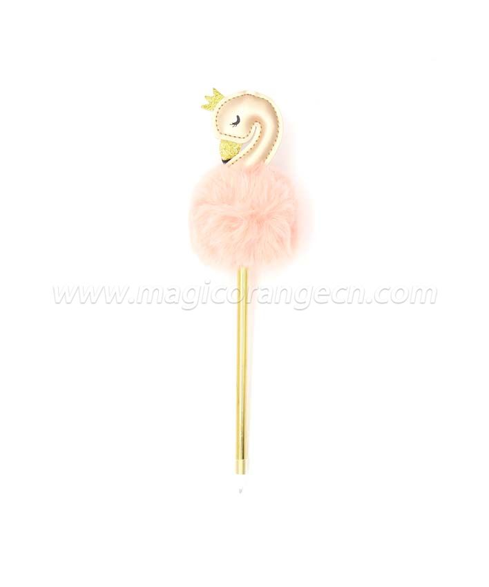 PN1350  Swan Unicorn Gift Pen Colorful Fluffy Ball Pen for Party Supplies