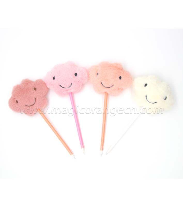 PN1351 Cute Cloud Gift Pen Colorful Fluffy Ball Pen