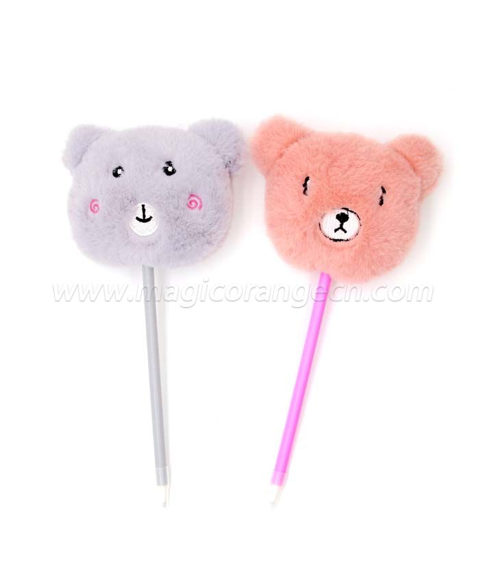 PN1352 Cute bear Gift Pen Colorful Fluffy Ball Pen