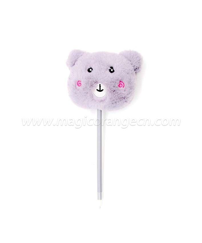 PN1352 Cute bear Gift Pen Colorful Fluffy Ball Pen