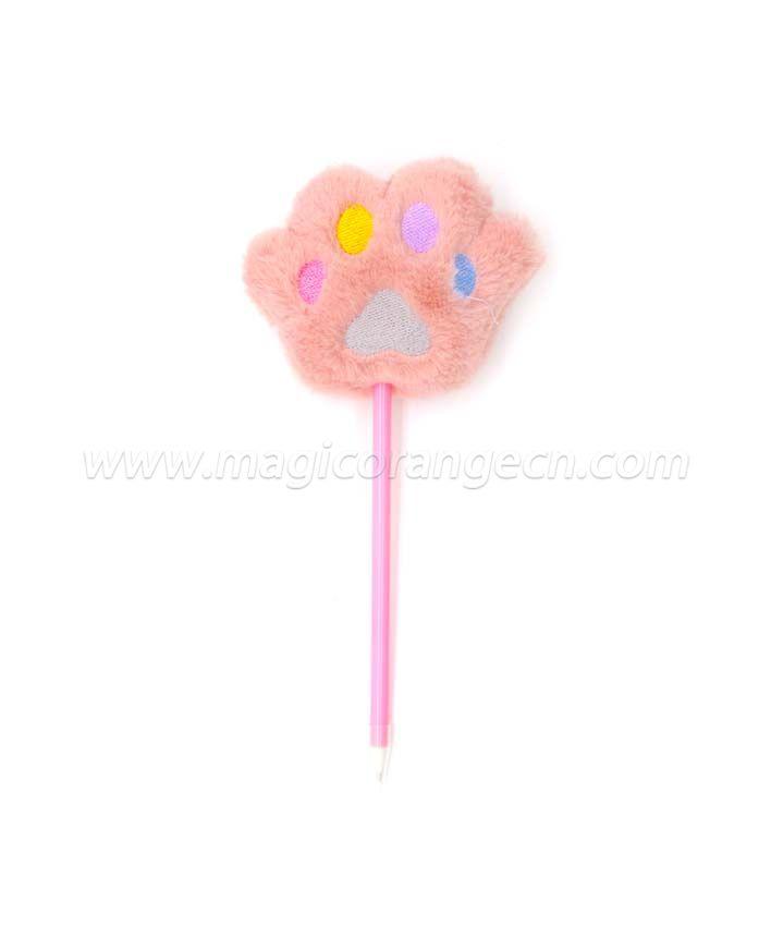 PN1353 Cute Bear Claw Gift Pen Colorful Fluffy Ball Pen