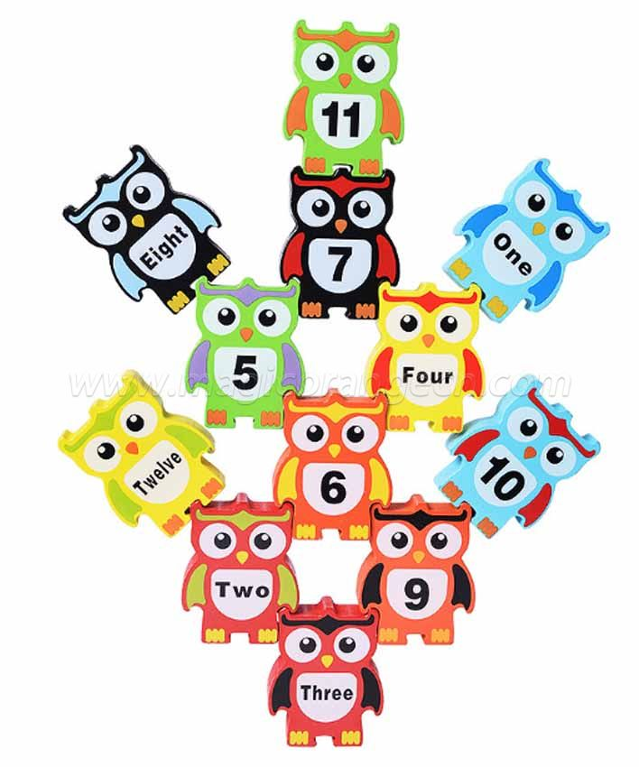 CTY1004 Discovery Toys Stacking Owls Wood Balancing Acrobat Set | Kid-Powered Learning | STEM Toy Early Childhood Development 3 Years and Up