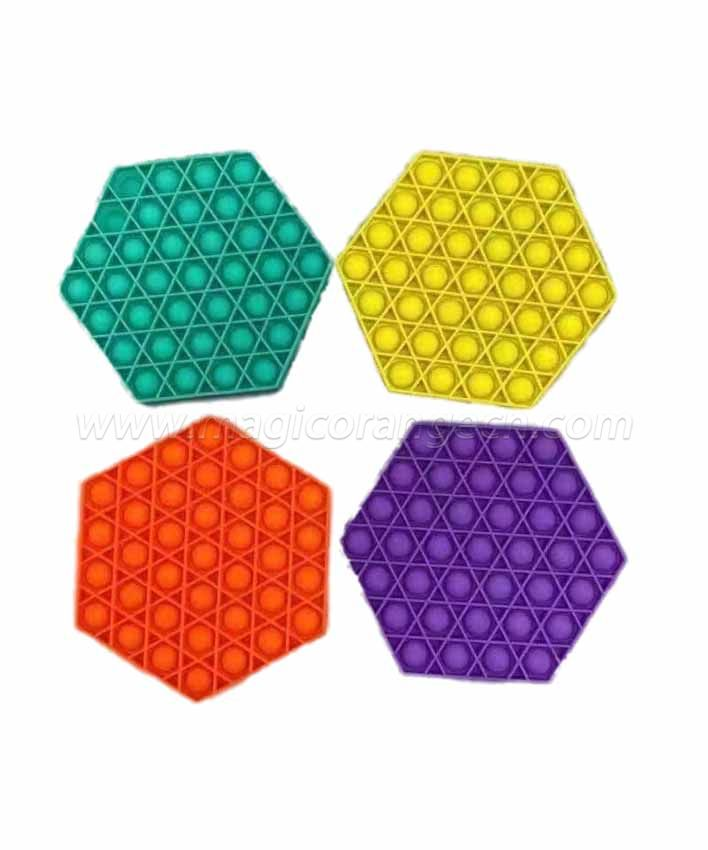 PL2022010 Hexagon Shape Push pop bubble fidgets sensory toy Last mouse lost