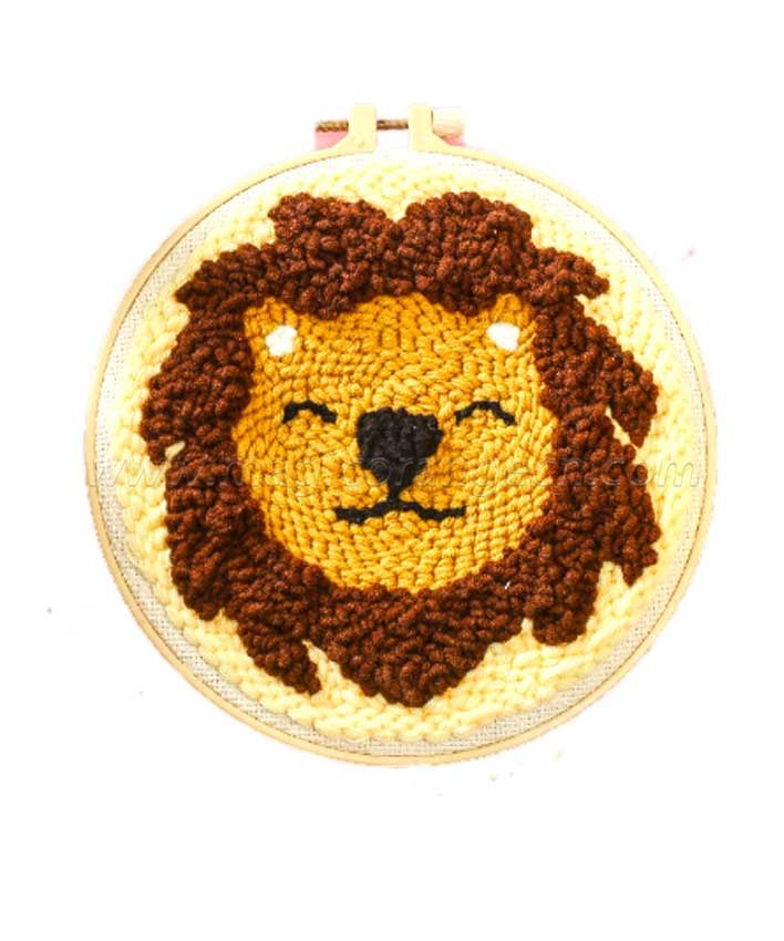 CTY100801 Lion Punch Needle Embroidery Starter Kit