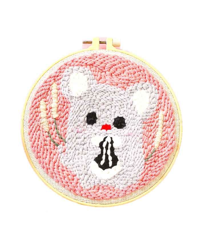 CTY100803 Mouse Punch Needle Embroidery Starter Kit