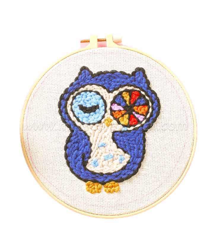 CTY100805 Owl Punch Needle Embroidery Starter Kit