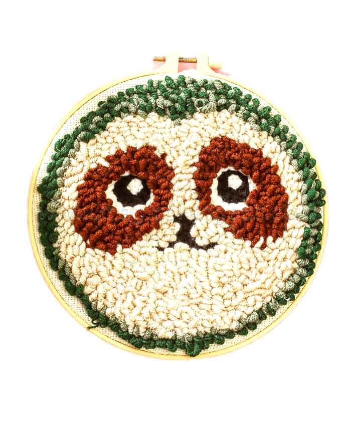CTY100807 Sloth Punch Needle Embroidery Starter Kit