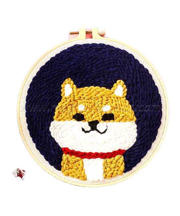 CTY100812 Corgi Punch Needle Embroidery Starter Kit for Adults Kids Beginner