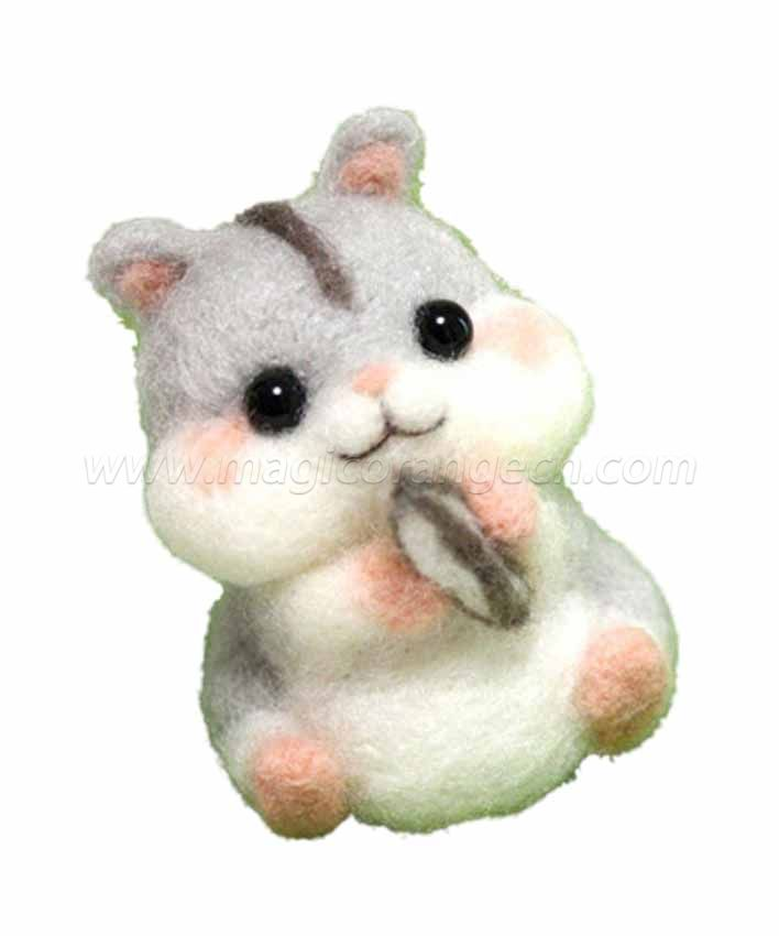 CTY101001 Cute Hamster Needle Felting Kit Handmade Animal Doll Needle Felting Wool Felting Kit Non Finished DIY Handcraft Material Set
