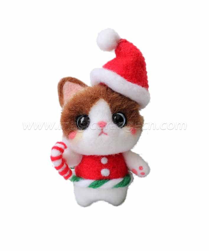 CTY101002 Chrismas Halloween Holiday Needle Felting Kit Handmade Animal Doll Needle Felting Wool Felting Kit