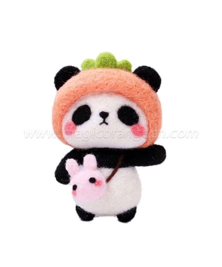 CTY101007 Panda Needle Felting Kit Handmade Animal Doll Needle Felting Wool Felting Kit