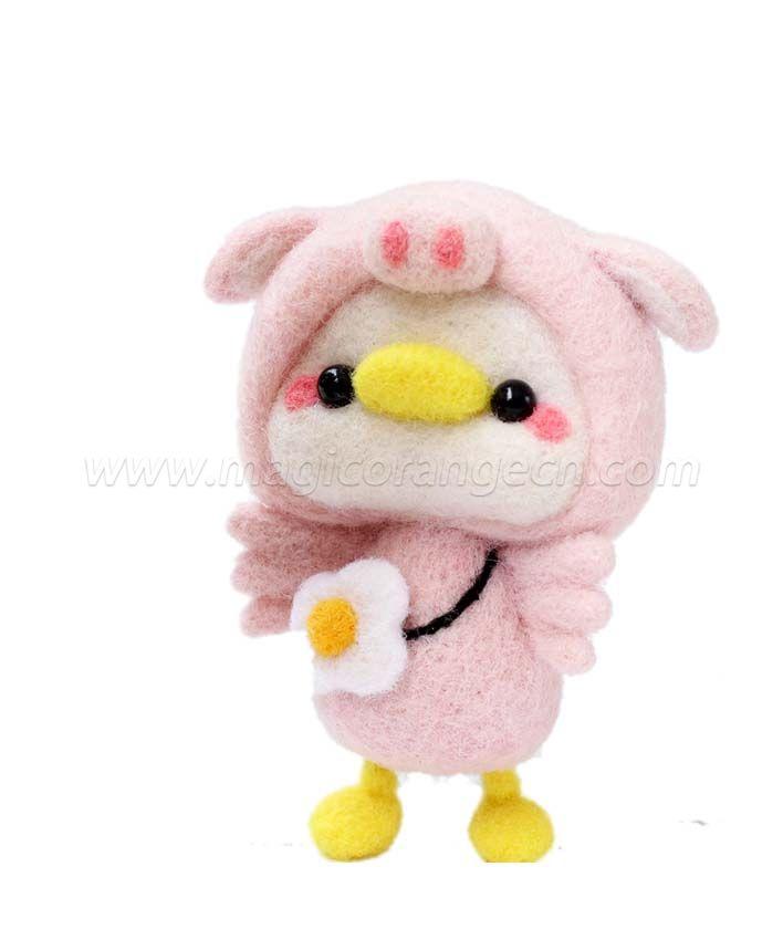 CTY101008 Duck Needle Felting Kit Handmade Animal Doll Needle Felting Wool Felting Kit