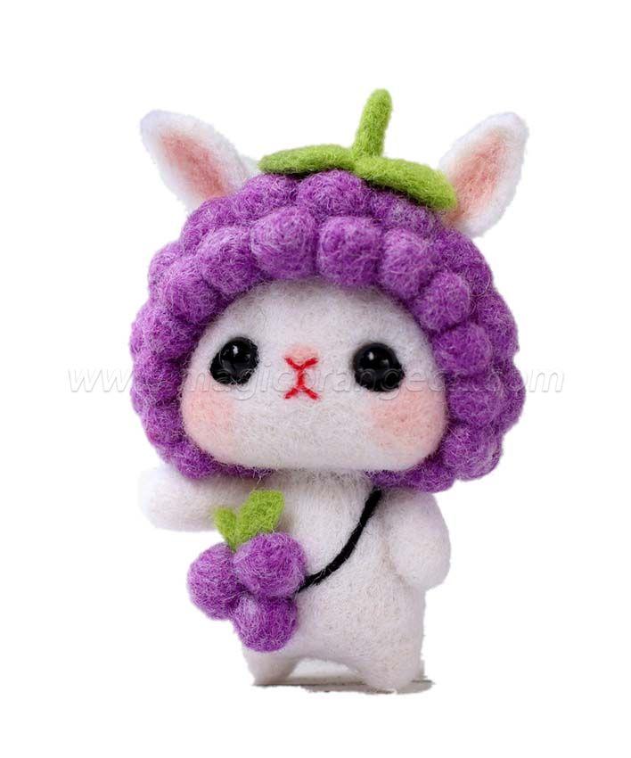 CTY101009 Rabbit Needle Felting Kit Handmade Animal Doll Needle Felting Wool Felting Kit