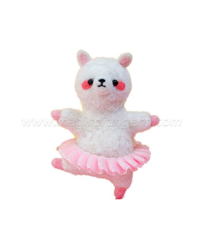 CTY101011 Ballet Animal Needle Felting Kit Handmade Animal Doll Needle Felting Wool Felting Kit