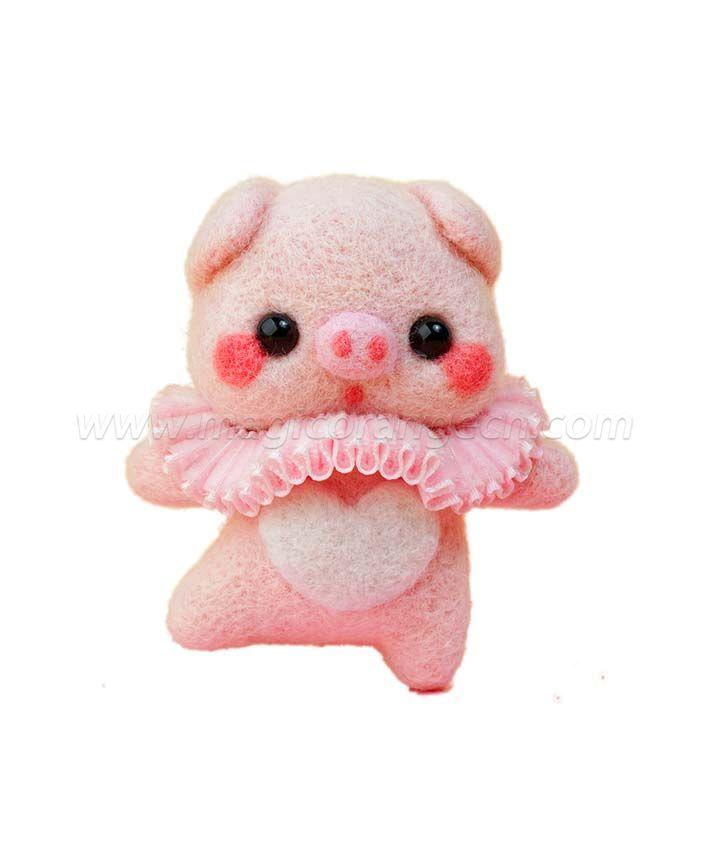 CTY101011 Ballet Bear Needle Felting Kit Handmade Animal Doll Needle Felting Wool Felting Kit