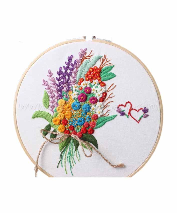 CTY100908 Bouquet Embroidery Starter Kit with Pattern