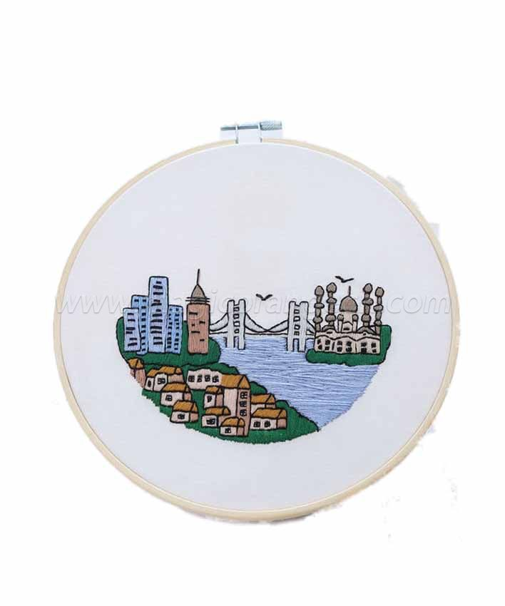 CTY100911 Civic Landscape Embroidery Starter Kit with Pattern