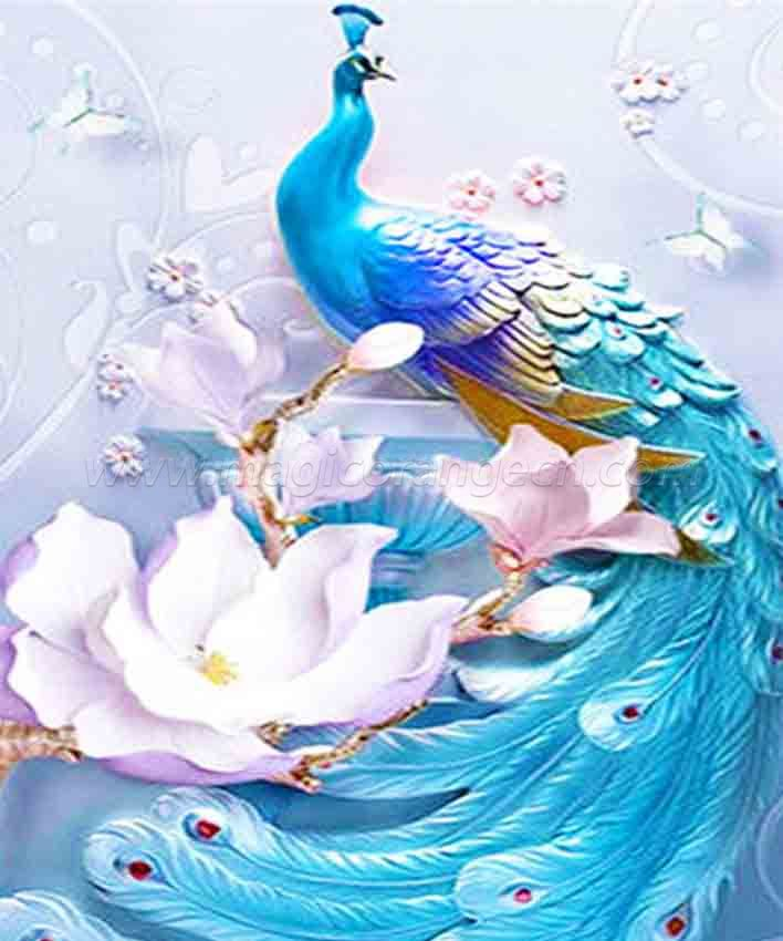 CTY101202 Peacock Color Animals DIY 5D Diamond Painting Kits for Adults Rhinestone Gem Art Painting Full Drill Round Diamond