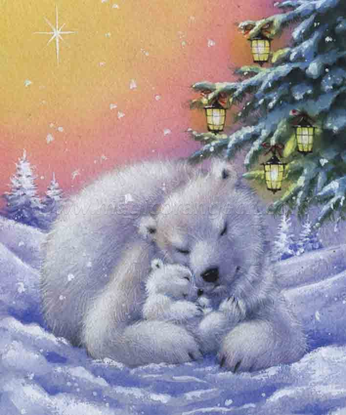 CTY101203 Polar Bear DIY 5D Diamond Painting Kits for Adults Rhinestone Gem Art Painting Full Drill Round Diamond, Perfect for Home Wall Decorate